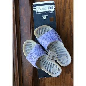 Adidas purple climate cool slides